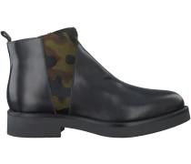 Schwarze Roberto d'Angelo Chelsea Boots ZIP181A