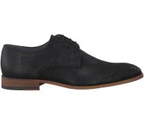 Schwarze Omoda Business Schuhe 7245
