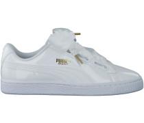 Weisse Puma Sneaker BASKET HEART PATENT