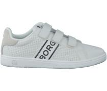Weisse Bjorn Borg Sneaker T310 LOW VELCRO