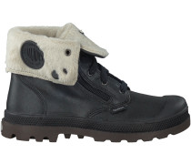 Schwarze Palladium Boots BAGGY LEATHER ZIP KIDS