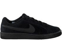 Schwarze Nike Sneaker COURT ROYALE SUEDE HEREN