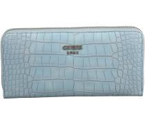 Blaue Guess Portemonnaie CATE SLG LARGE ZIP AROUND