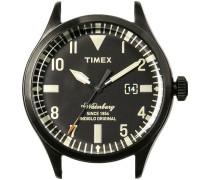 Schwarze Timex Uhr (ohne Armband) WATERBURY DATE