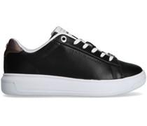 Sneaker Low Metallic Leather Cupsole Schwarz Damen
