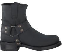Schwarze Sendra Stiefel 9077 RONDE LEEST
