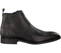 Schwarze Braend Ankle Boots 24703