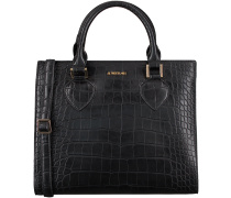 Schwarze Supertrash Handtasche ALABAMA MEDIUM CROC