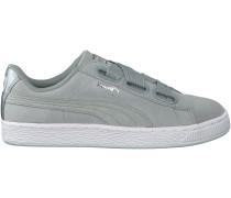 Graue Puma Sneaker SUEDE HEART SAFARI DAMEN