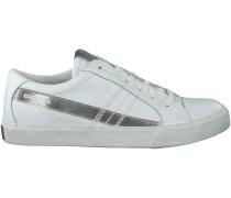 Weisse Diesel Sneaker D-STRING LOW