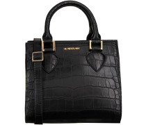 Schwarze Supertrash Handtasche ALABAMA MINI CROC