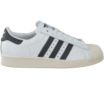 Weiße Adidas Sneaker SUPERSTAR 80S DAMEN