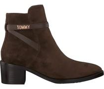 Tommy Hilfiger Stiefeletten Block Branding Mid Braun Damen