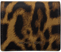 Braune Michael Kors Kreditkarteninhaber FLAP CARD HOLDER