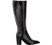 Hohe Stiefel Ah183 Forma 802418 Fondo Tacco Schwarz Damen
