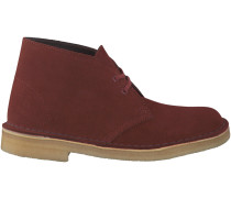 Rote Clarks Boots DESERT BOOT DAMES