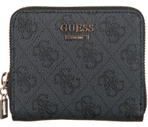 Guess Portemonnaie Cathleen Slg Cheque Small Zip Grau Damen