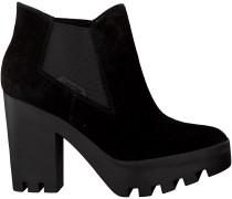 Schwarze Calvin Klein Stiefeletten mit Absatz SANDY