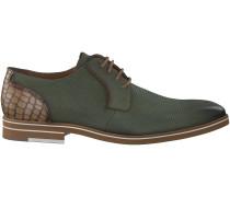 Grüne Braend Business Schuhe 15113