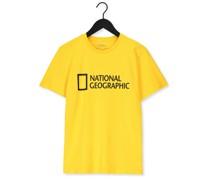 T-shirt Unisex T-shirt With Big Logo Gelb Herren