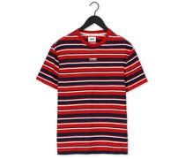 T-shirt Tjm Centre Graphic Stripe Tee Rot Herren