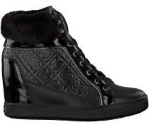 Schwarze Guess Wedge Sneaker FLFUR3 ELE12