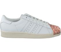 Weisse Adidas Sneaker SUPERSTAR 80S DAMES