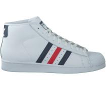 Weiße Adidas Sneaker PROMODEL HERREN
