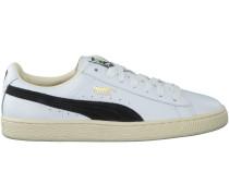 Weisse Puma Sneaker BASKET CLASSIC B&W