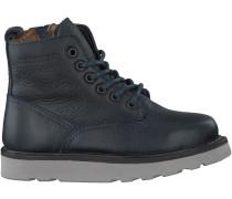 Blaue Blackstone Ankle Boots MK92