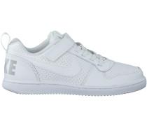 Weisse Nike Sneaker COURT BOROUGH LOW (KIDS)