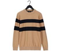 Pullover Structure-knitted Pullover Con Beige Herren