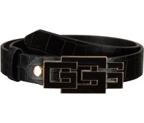 Guess Gürtel Triple G Adjustable Pant Belt Schwarz Damen