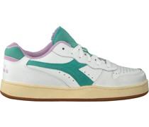 Diadora Sneaker Low Mi Basket Low Used Wn Weiß Damen