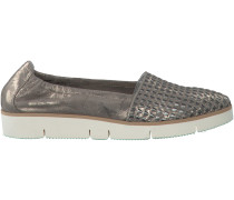 Taupe Maripé Loafer 22560 DIKKE ZOOL