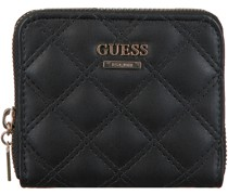 Guess Portemonnaie Cessily Slg Small Zip Around Schwarz Damen
