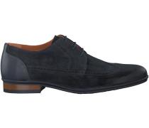 Blaue Van Lier Business Schuhe NEUS DERBY BOOT