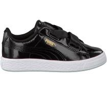 Schwarze Puma Sneaker BASKET HEART GLAM