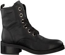 Schwarze Nubikk Schnürboots DALIDA BIG LACE LEATHER