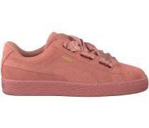 Rosa Puma Sneaker SUEDE HEART SATIN II
