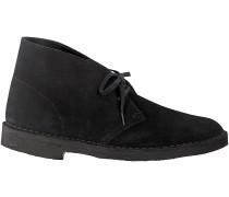Schwarze Clarks Boots DESERT BOOT
