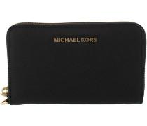 Schwarze Michael Kors Portemonnaie LG FLAT MF PHONE CASE
