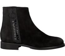 Tommy Hilfiger Chelsea Boots Tommy Jeans Zip Flat Schwarz