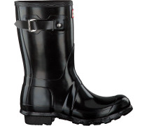 Hunter Gummistiefel Womens Original Short Schwarz Damen