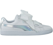 Weiße Puma Sneaker BASKET HEART EXPLOSIVE DAMEN