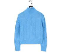 Pullover Alpah Gz R Zipper Pullover Hellblau Damen