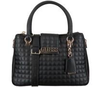 Guess Handtasche Matrix Luxury Satchel Schwarz Damen