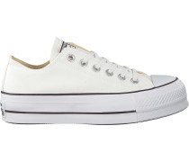 White Converse Shoe Chuck Taylor All Star Lift Weiß