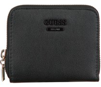 Guess Portemonnaie Noelle Slg Small Zip Around Schwarz Damen