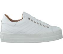 Weiße Via Vai Plateau Sneaker 4920101